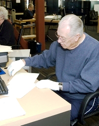 Volunteer at the Archive